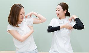 痛み・症状の改善から再発の予防の筋トレまですべて行える施術